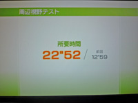 Wii Fit Plus 2011年5月13日のバランス年齢 31歳 周辺視野テスト結果 所要時間22