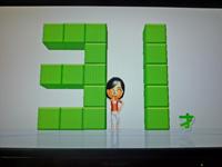 Wii Fit Plus 2011年5月13日のバランス年齢 31歳