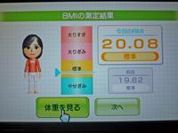 Wii Fit Plus 2011年5月14日のBMI 20.08
