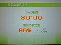 Wii Fit Plus 2011年5月14日のバランス年齢 22歳 片足立ちテスト キープ時間30