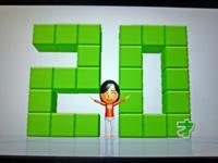 Wii Fit Plus 2011年5月19日のバランス年齢 20歳