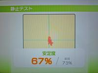 Wii Fit Plus 2011年5月21日のバランス年齢 28歳 静止テスト結果 安定度67%