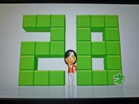 Wii Fit Plus 2011年5月21日のバランス年齢 28歳