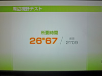 Wii Fit Plus 2011年5月22日のバランス年齢 29歳 周辺視野テスト 所要時間26