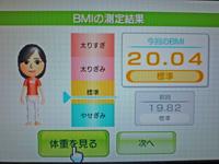 Wii Fit Plus 2011年5月23日のBMI 20.04