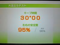 Wii Fit Plus 2011年5月28日のバランス年齢 20歳 片足立ちテスト結果 キープ時間30