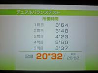 Wii Fit Plus 2011年5月29日のバランス年齢 21歳 デュアルバランステスト結果 20