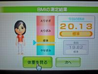 Wii Fit Plus 2011年5月30日のBMI 20.13