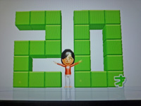 Wii Fit Plus 2011年6月16日のバランス年齢 20歳