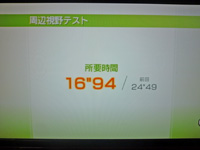 Wii Fit Plus 2011年6月17日のバランス年齢 25歳 周辺視野テスト結果 所要時間 16