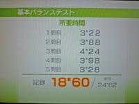Wii Fit Plus 2011年6月28日のバランス年齢 26歳 基本バランステスト結果 18