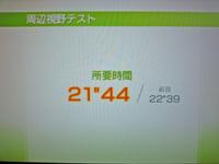 Wii Fit Plus 2011年6月28日のバランス年齢 26歳 周辺視野テスト結果 21