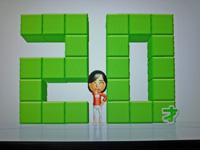 Wii Fit Plus 2011年7月4日のバランス年齢 20歳