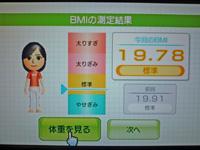 Wii Fit Plus 2011年7月6日のBMI 19.78