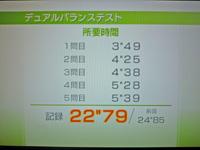 Wii Fit Plus 2011年7月6日のバランス年齢 26歳 デュアルバランステスト結果 22