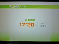 Wii Fit Plus 2011年7月14日のバランス年齢 26歳 周辺視野テスト結果 所要時間17