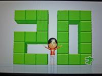 Wii Fit Plus 2011年7月19日のバランス年齢 20歳