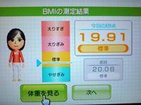 Wii Fit Plus 2011年7月28日のBMI 19.91