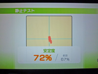 Wii Fit Plus 2011年7月29日のバランス年齢 28歳 静止テスト結果 安定度72%