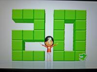 Wii Fit Plus 2011年7月31日のバランス年齢 20歳
