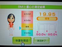 Wii Fit Plus 2011年8月5日のBMI 19.95