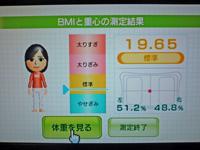 Wii Fit Plus 2011年8月14日のBMI 19.65