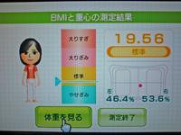 Wii Fit Plus 2011年8月28日のBMI 19.56