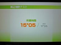 Wii Fit Plus 2011年9月4日のバランス年齢 22歳 周辺視野テスト結果 所要時間 15