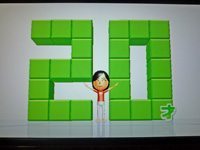 Wii Fit Plus 2011年9月6日のバランス年齢 20歳