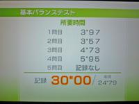 Wii Fit Plus 2011年10月19日のバランス年齢 29歳 基本バランステスト結果 30