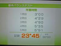 Wii Fit Plus 2011年11月15日のバランス年齢 31歳 基本バランステスト結果 23