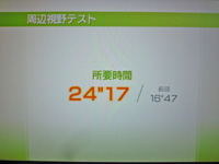 Wii Fit Plus 2011年11月19日のバランス年齢 26歳 周辺視野テスト結果 所要時間24
