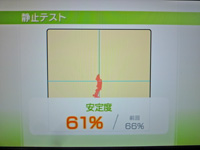 Wii Fit Plus 2011年11月20日のバランス年齢 31歳 静止テスト結果 安定度 61%