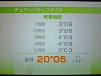 Wii Fit Plus 2011年11月20日のバランス年齢 31歳 デュアルバランステスト結果 所要時間 20
