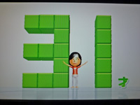 Wii Fit Plus 2011年11月20日のバランス年齢 31歳