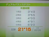 Wii Fit Plus 2011年12月02日のバランス年齢 22歳 デュアルバランステスト結果 21