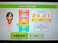 Wii Fit Plus 2011年12月07日のBMI 20.21
