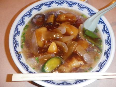酢豚ラーメン