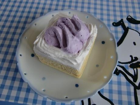 紅芋と豆乳のショートケーキ。