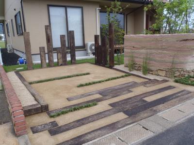 駐車場の土舗装