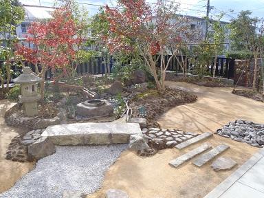 舗装名人 庭の通路1
