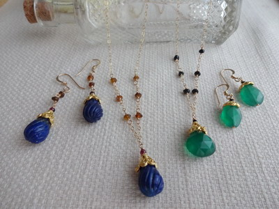 exotic necklace&earrings