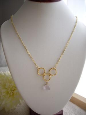 bubble link necklace