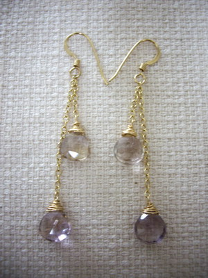 ametrine gradation earrings