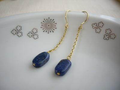 chain&lapiz earrings