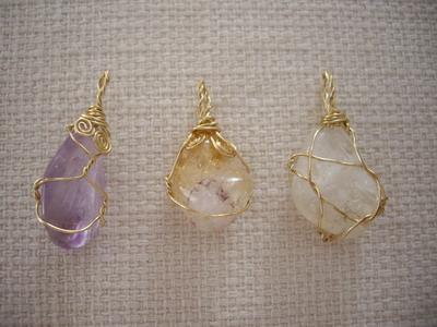 gem stone pendant tops