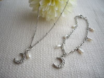 charm necklace&bracelet
