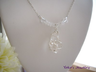 ore crystal necklace