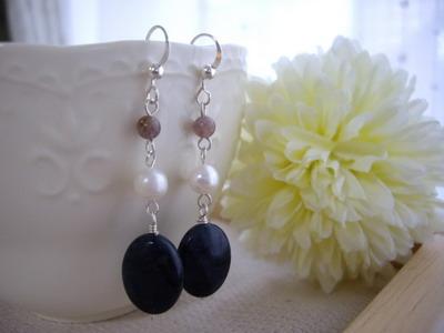 multi color gem earrings