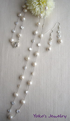 pearl french knot necklace